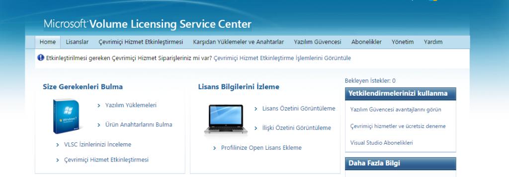 Microsoft Open Lisans Etkinleştirme